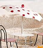 Miniatur Fairy Garden Metall Terrasse Tisch mit Schirm