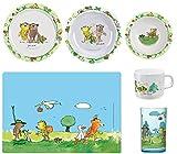 Janosch Küchenset für Kinder, Teller, Suppen-Teller, Müslischale, Platz-Set, Trink-Glas & Trink-Becher
