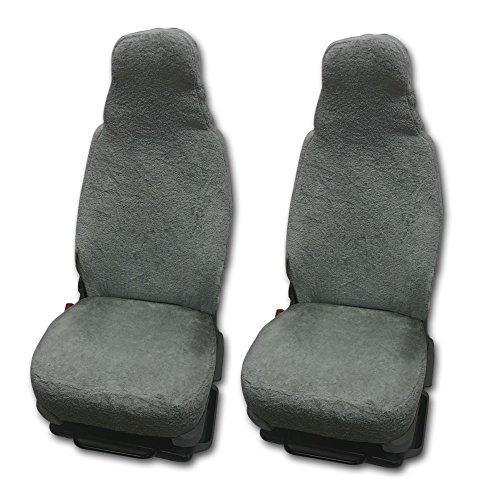 RAU Universal Sitzbezuge Schonbezüge aus 100{aa14a5823c5d7a71edc7e26dd0e42e945b29d541163aa6bbbd641eb7008b230f} Frottee Farbe: elefant für Pilotsitze und Wohnmobile