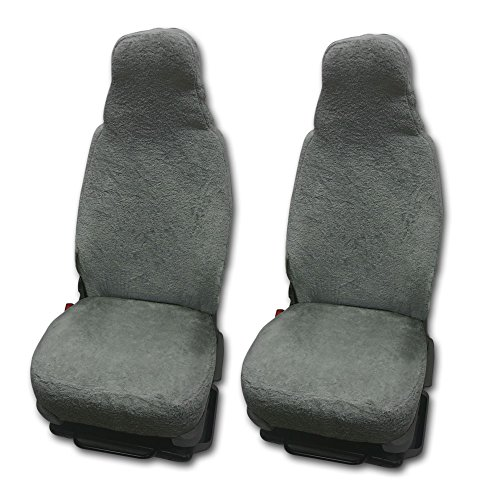 RAU Universal Sitzbezuge Schonbezüge aus 100{407bf60feaa08362fbff3fb5861ddc2d80dbe99132bf7877a9b62ff5ff6af293} Frottee Farbe: elefant für Pilotsitze und Wohnmobile