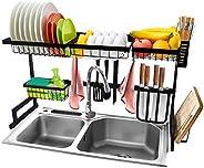 رف تجفيف طبق الحوض 304 الفولاذ المقاوم للصدأ لصرف الصحون مستلزمات المطبخ تخزين سطح المكتب موفر مساحة العرض حام