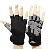 JoyFit Men's and Women's Weightlifting, Crossfit, Workout Gloves for Gym (XL)