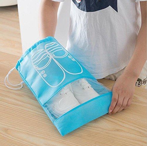 Generic S, Sky Blau: 5PCS/LOT Hohe Qualität Wasserdicht, groß zum Aufhängen Reisen Aufbewahrungstasche Schuhe Make-up-Organizer