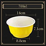 Müslischale - Einweg-Rundschale aus Kunststoff zum Mitnehmen - Großraum 700ml-Imbiss-Schale Bruchsicher-Altbrühpackung [50er Pack] Tableware (Farbe : C)