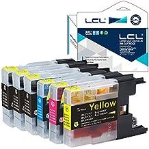 LCL(TM) LC1280 LC1280BK LC1280C LC1280M LC1280Y (6-Pack 3Negro Cian Magenta Amarillo) Cartuchos de Tinta Compatible para Brother MFC-J6510DW/MFC-J6710DW/MFC-J6910DW/MFC-J5910CDW MFC-J6710CDW