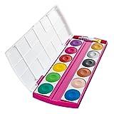 Pelikan PI 12 - Deckfarbkasten Prinzessin mit 12 Farben und 1 Tube, deckweiß -