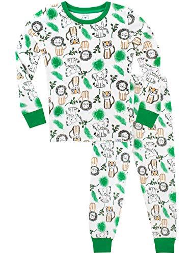 d924b3a6a0 Harry Bear Pijamas para niños Rey de la Selva Ajuste Ceñido Blanco 4-5 Años