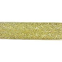 1 m Klöppelspitze 19 mm breit  Lurex gold