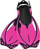 AQUAZON Sidney Pinne da Bambino, Pinne da Sub Regolabili, Ideali per Lo Snorkeling, Le Immersioni o Come Pinne da Nuoto o Snorkeling, Size:27/31, Colour:Pink