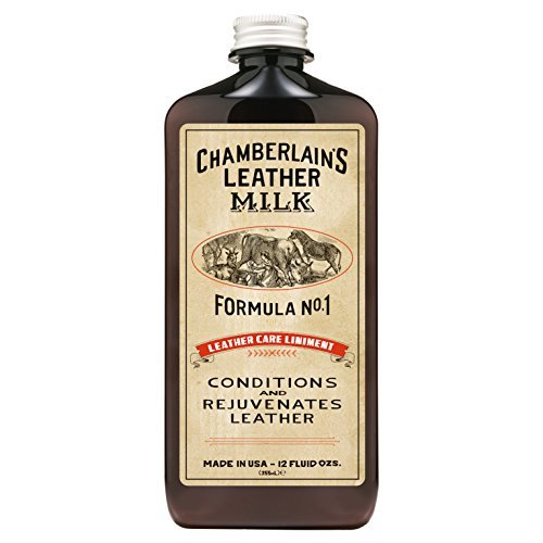 Chamberlain's Leather Milk - Leather Care Liniment Nr. 1 - Leder-Conditioner - Naturbasis/ungiftig - 1 Auftragepad - Hergestellt in den USA - 2 Größen - 0.35 L (1 Haut-conditioner)