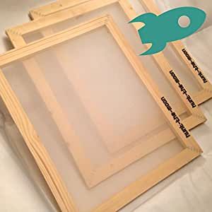 A3soie Écran 90T Cadre en bois en maille filet pour écran d'Impression