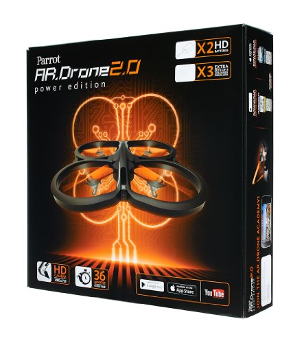 Parrot AR.Drone 2.0 Power Edition Quadrocopter (geeignet für Android-/Apple-Smartphones und -Tablets) rot - 18