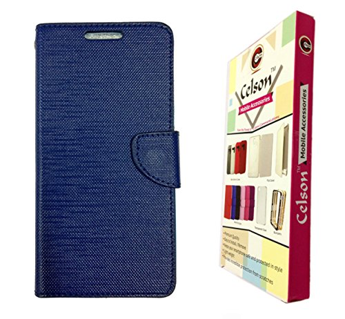 Celson Flip Cover Back Case For Micromax Yu Yuphoria Flip Cover - Blue