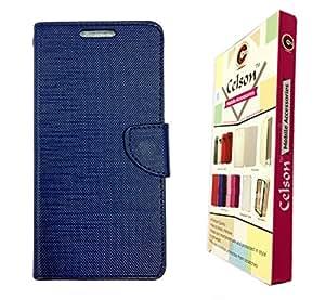 Celson Flip Cover Back Case For Coolpad Dazen 1 Flip Cover - Blue