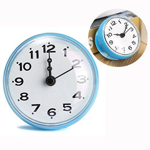 Cisixin Horloge Etanche Avec Ventouse Pour Salle De Bain