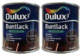 2 x 500ml Dulux Buntlack Seidenmatt für innen und außen 1 Liter Farbwahl, Farbe:Schokoladenbraun Ral 8017