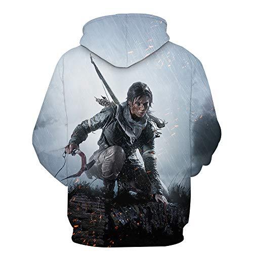 ck Hoodie Kapuzenpullover Langarm Sweatshirt Kapuzenjacke Mit Tunnelzug Pullover Taschen Top Shirt Weihnachten Herbst Rise of The Tomb Raider XL ()