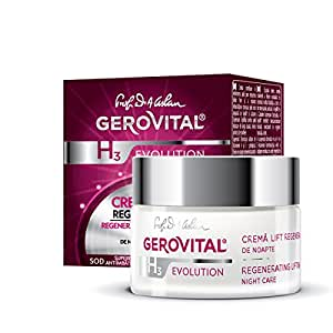GEROVITAL H3 EVOLUTION, Regenerating Lifting Cream Night Care with Superoxide Dismutase (Anti-Ageing Super Enzyme) 30+