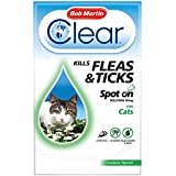 Bob Martin Clear Cat Kitten Spot On Fleas & Ticks Treatment, 3 Tubes, Up to 24 Weeks Solution