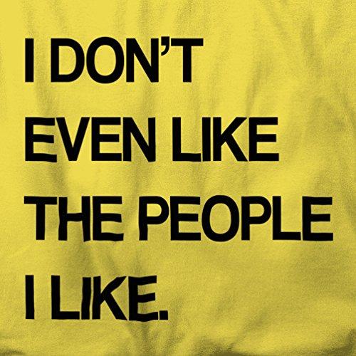Ich weiß nicht einmal wie die Menschen Ich mag Loner Nihilist Herren T-Shirt Navy Blue