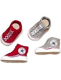 Converse Geschenkbox Socken 2 Paar rot grau