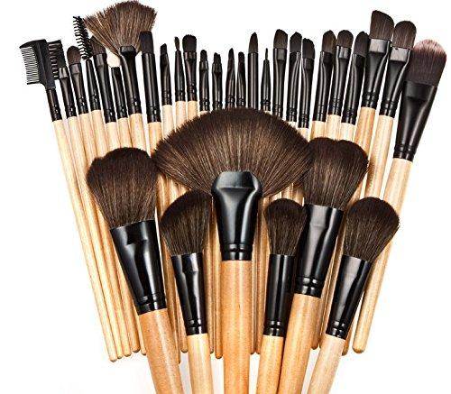 ILFtrend Brush Set 32 pièces pinceaux maquillage trousse en cas exquisge (Marron)