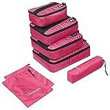 Organizer da viaggio per valigia Trèsutopia Mobutler 6 pezzi Organizzatori Valigia Risparmio dello spazio (Rosa)