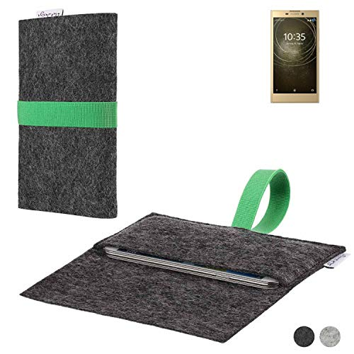 flat.design Handy Hülle Aveiro für Sony Xperia L2 Dual-SIM passgenaue Filz Tasche Case Sleeve Made in Germany