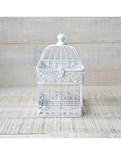 Jaula Decorativa Blanca Diseño Original Metal en Color Blanco Hogar y Más - Pequeño
