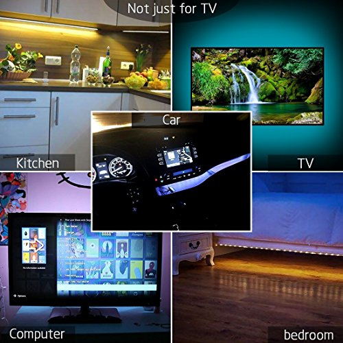 comprare on line LED TV Retroilluminazione Bias Illimitazione con Telecomando, 1M/3.28ft STRISCIA LED USB TV per HDTV da 40 a 60 pollici, monitor PC prezzo