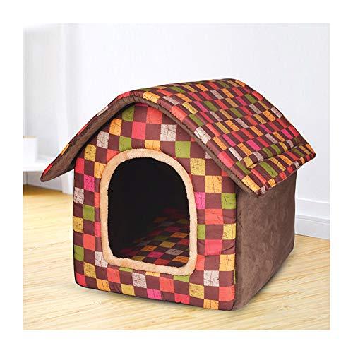 HDJX Katzenhütte kleine mittelgroße Hunde Hundehütte Sommernest Katzenstreu Indoor Hundehütte 4 Jahreszeiten Allgemeinhütte L (empfohlen innerhalb 15 kg) (Indoor-hundehütte Für Mittelgroße Hunde)