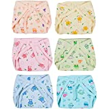 Wishkey New Born Baby Large Cotton Cloth Nappies Pack Of 6