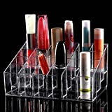 #8: Lifestyle-You™ 24 Compartment Luxurius Clear Acrylic Makeup Organiser Lipstick Holder Case