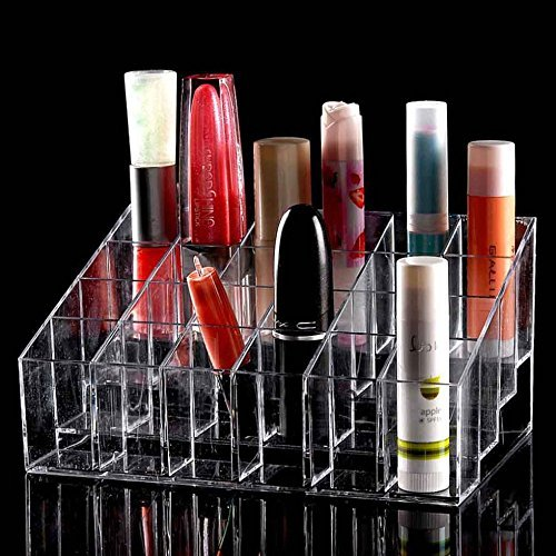 Lifestyle You 24 Compartment Luxurius Clear Acrylic Makeup Organiser Lipstick Holder Case ,2 Pieces