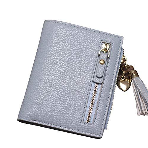 PVNKIT Frauen Geldbörsen Leder Weiblich Für Karten Reißverschluss Brieftasche Kurze Kreditkarteninhaber Geldbörse Münzfach Kupplung Quasten -