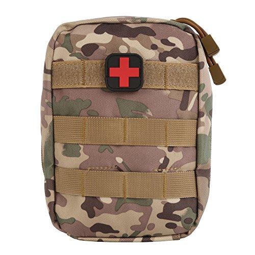 Zdmathe Multifunktions MOLLE Taktische Erste Hilfe Tasche Medizinische Notfalltasche f¨¹r Outdoor Zuhause Sport Reisen (CP)