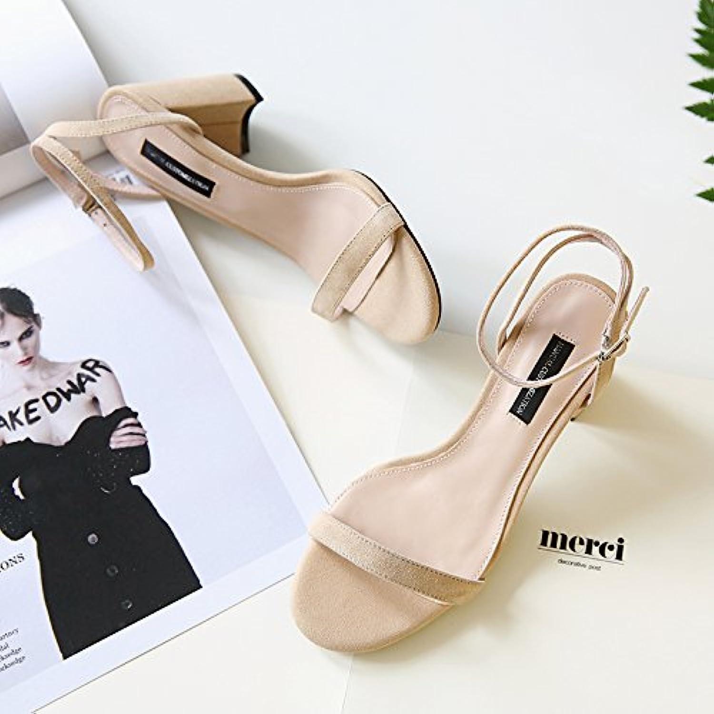 les les les talons de Chaussure shaoge sandales talon un mot boucle sandales college vent des chaussures de femmes b0753lnh55 parent les chaussures d'été   économie  2e212d