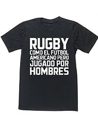 HippoWarehouse Rugby como el Fútbol Americano pero jugado por hombres  camiseta manga corta unisex 73db58d4ea5