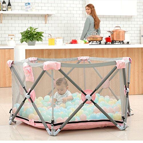 Tragbares Baby-Playard Mit Matratze Und Ball Im Freien Innenheim-Rosa Sicherheits-Spiel-Mitte-Yard Für Mädchen (größe : 200 - Baby-mädchen-spiel-yard