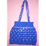 Elite Enterprises Macrame Decorative Hand Made Shoulder Bag Originally Crafted By Hand