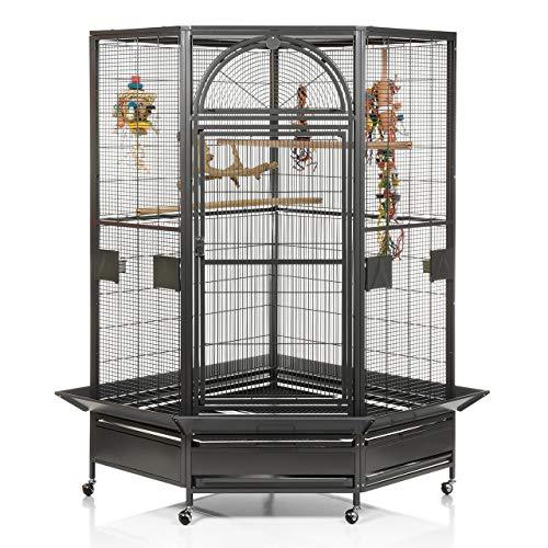 Montana Cages ® | Eck Voliere Käfig XXL Vogelkäfig Denver II - in Antik