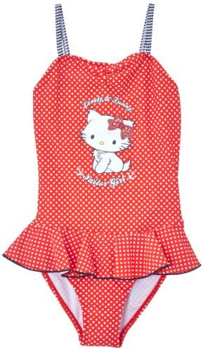 Charmmy Kitty Mädchen Badeanzug Rot, 6 Jahre