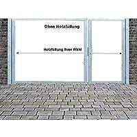 Einfahrtstor Qas Tor Holztor Gartentor Hoftor Verzinkt mit Pfosten Ohne Holzfüllung 2-flügelig 300cm x 180cm