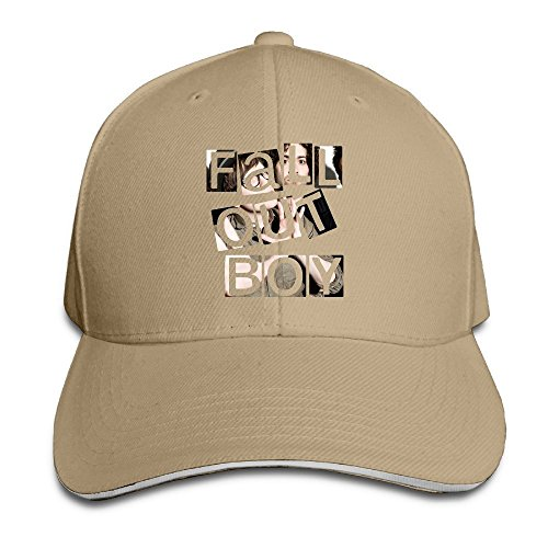Hittings Fall Out Boy Sandwich Peaked Hat/Cap Natural Fall Out Boy-cap