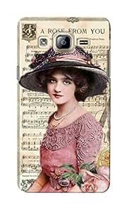 KnapCase Vintage Lady Designer 3D Printed Case Cover For Samsung Galaxy On5