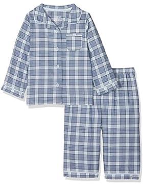 Mamas & Papas Baby-Jungen Pyjama-Sets Blue Woven Check Pjs