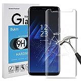Samsung Galaxy S8 Protecteur D'écran, Bukm Protecteur d'écran en verre trempé [Sans bulle] [Anti-empreinte digitale] [HD Ultra] Couvercle d'écran pour Samsung Galaxy S8