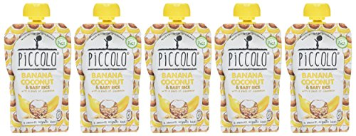 Piccolo Stage 1 Banana, Coconut and Baby Brown Rice, 100 g, Pack of 5