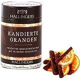Hallingers Kandierte Orangen, Premiumdose, 1er Pack (1 x 100 g)
