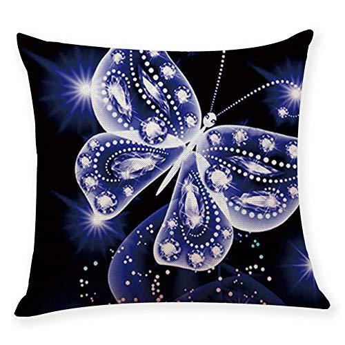Frimuoy Kissenbezug mit Schmetterlingsmotiv, dekorativ, quadratisch, 45,7 x 45,7 cm, B, 18 x 18 Inch